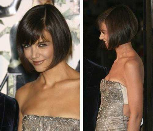 Katie Holmes Casual Bob Haircuts