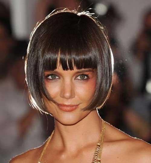 Katie Holmes Straight Blunt Bob Haircuts