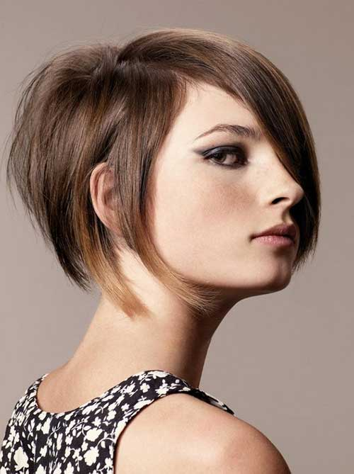 Light Brown Short Bob