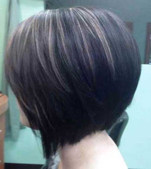 Light Brown Highlighted Dark Bob Haircut