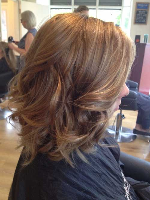 Light Brown Long Bob Hairstyles