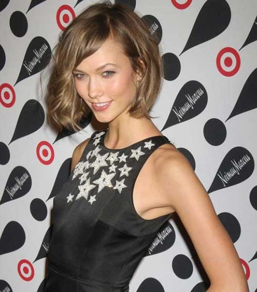 Light Brown Short Wavy Bob Hairstyles