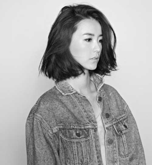 Messy Chinese Dark Bob Hairstyles