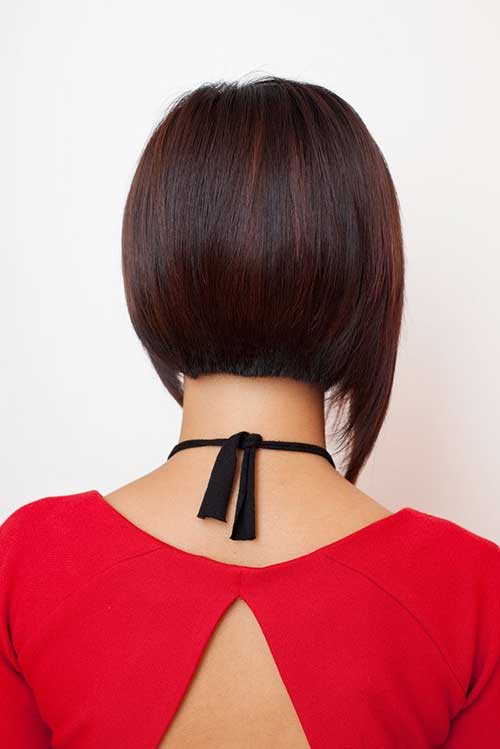 New Dark Bob Hairstyles Back View