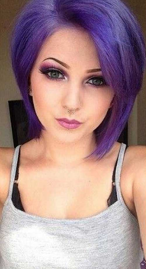 New Purple Bob Hair Style