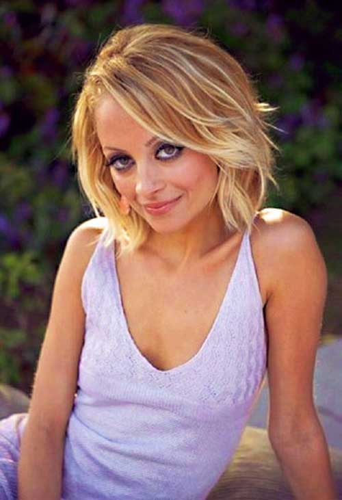 Nicole Richie Soft Highlighted Wavy Bob Haircut - 20 Nicole Richie Bob Haircuts Bob Hairstyles 2017 - Short