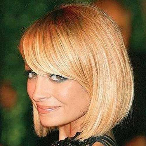 Nicole Richie Straight Bob with Bangs Hairstyle