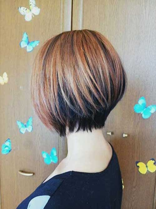 Short Bob Cut with Caramel Brown Hair Color
