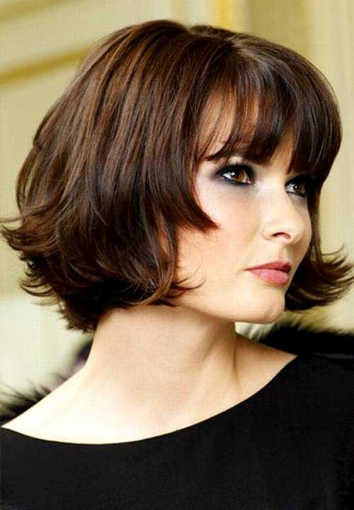 Short Bob with Dark Colors Ideas