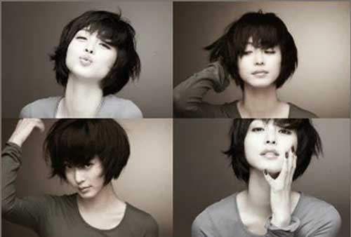Cute Short Chinese Bob Hairstyles Pictures