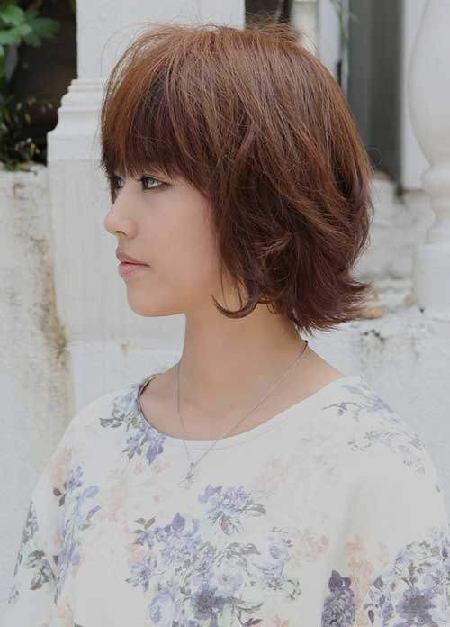 Short Chinese Layered Bob Hairstyles