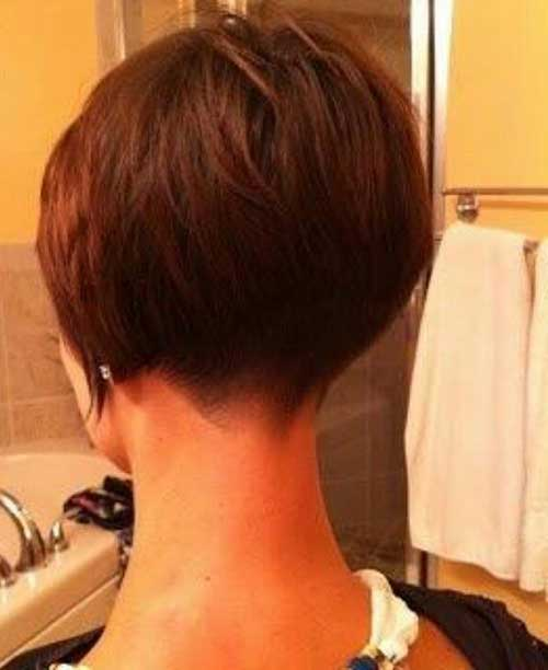 Cool Haircut Stacked Bob Back View Best Hairstyles 2017 Short Hairstyles Gunalazisus