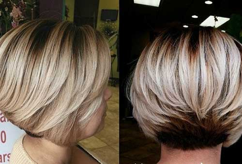 Thick Bob with Blonde Hair Color