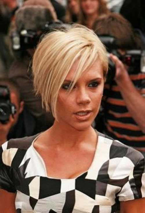 Pics Photos - Victoria Beckham Inverted Bob Hairstyles For Fine Hair