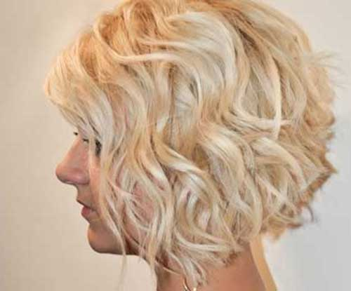 Wavy Curly Hairstyles for Short Bob Cuts
