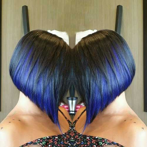 Aline Dark Bob Hairstyles