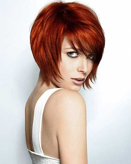 Aline Red Bob Cut Ideas