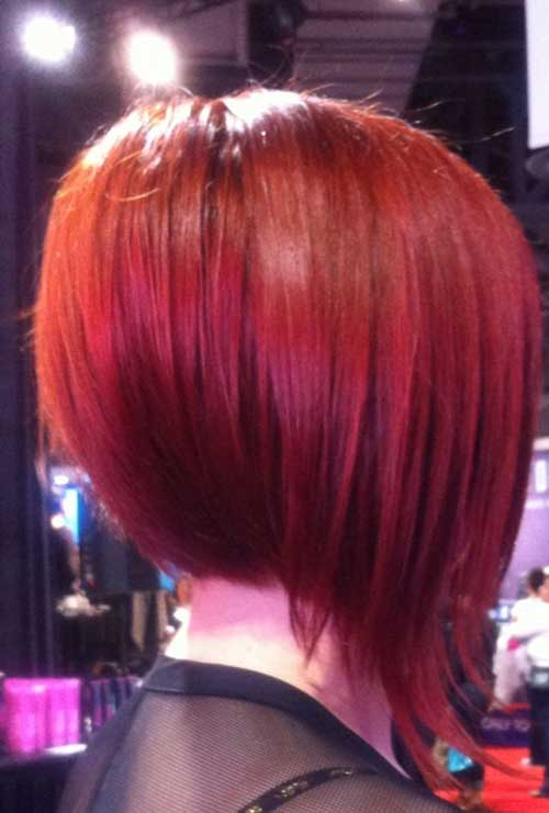 Aline Red Bob Haircuts