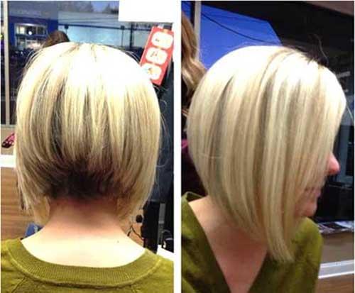Стрижка короткая на тонкие волосы боб каре вид сзади