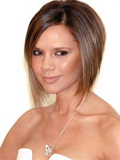 Angled Brown Bob Cut Ideas Pictures