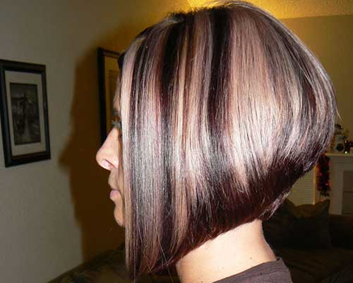 Angled Highlighted Bob Cut Pictures