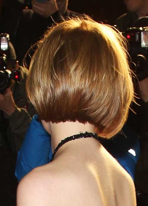 Back View Of Brown Bob Haircuts