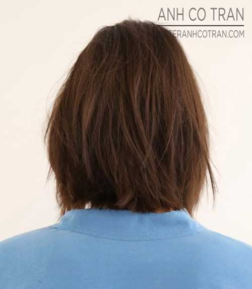 Back View Of Mid Bob Haircuts Ideas