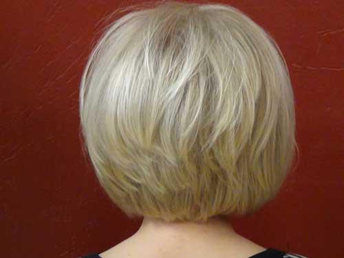 Back View Of Platinum Bob Haircuts Looks