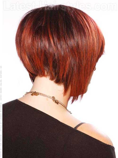Back View Of Red Bob Haircuts Ideas