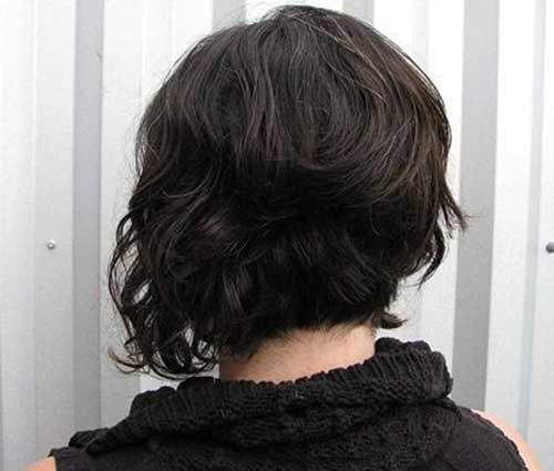 Back View Of Short Wavy Bob