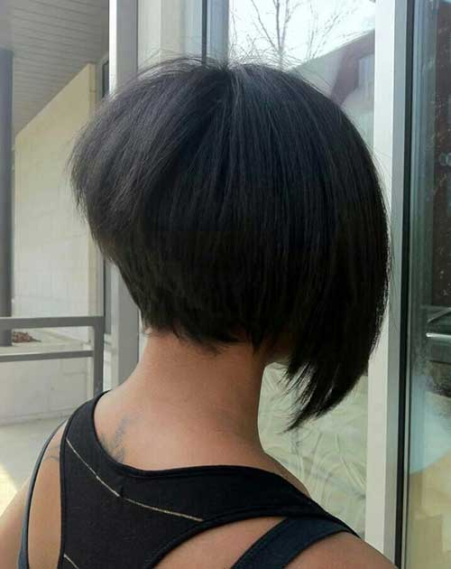 Back View of Asymmetrical Short Bob Haircuts