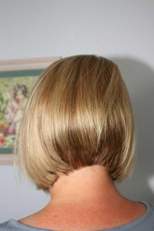 Back View of Short Blonde Bob Haircuts