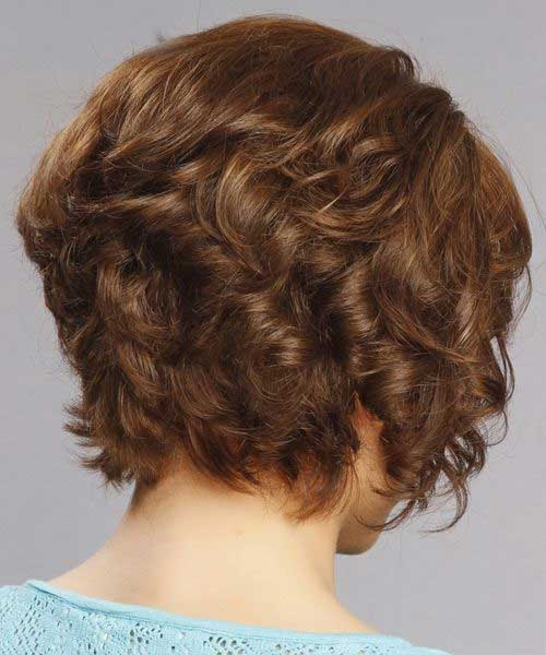 Back View of Short Curly Bob Haircuts