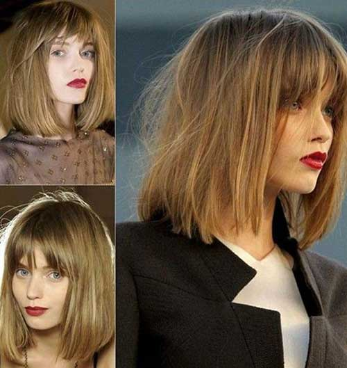 Best Medium Length Bob With Bangs Haircuts