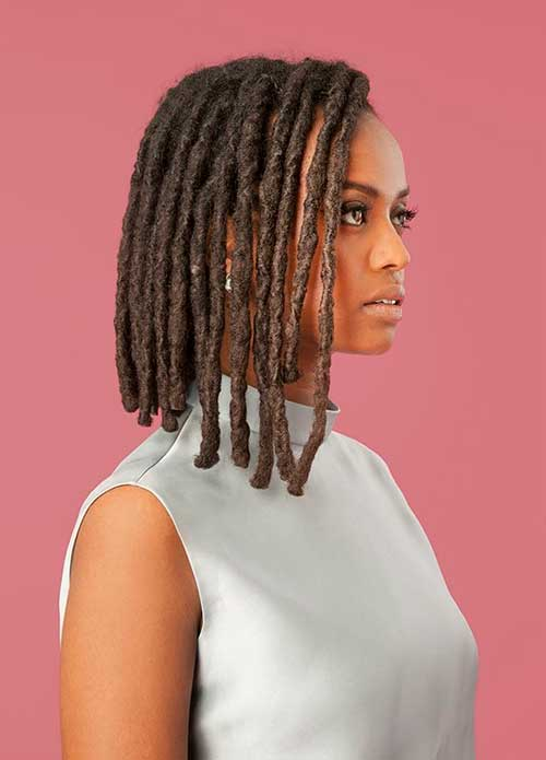 Best Black Women with Bob Hairstyles Dreads