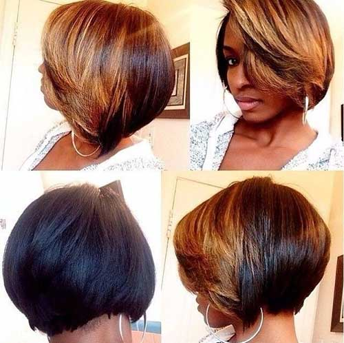 Black Women with Bob Hairstyles Blonde Lights