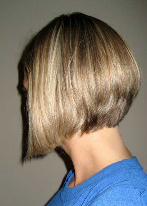 Blonde Angled Bob Cut Pictures