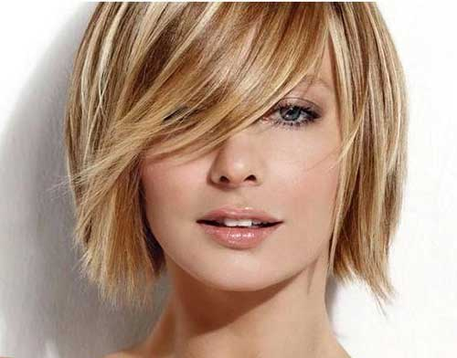 Blonde Highligthed Short Bobs Cut 2014