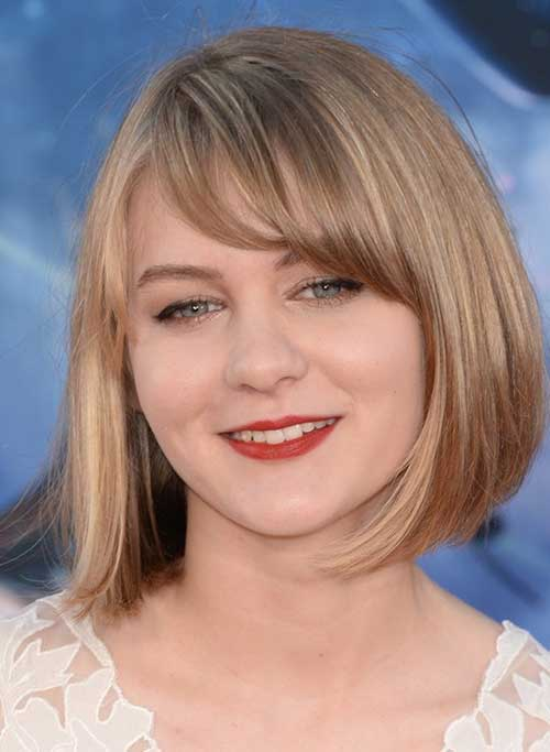 Blonde Bob Cut 2014 for Round Face