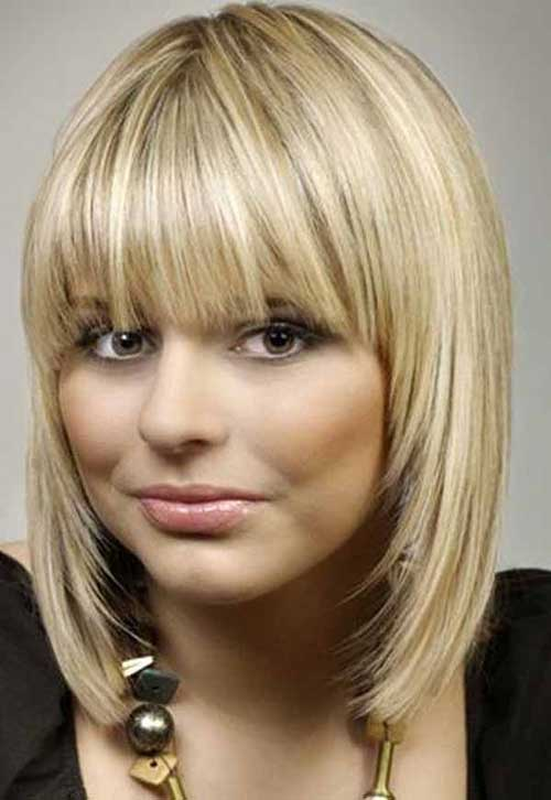 10 Bob Hairstyles With Bangs For Round Faces | Bob ...