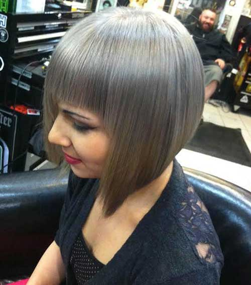 Fabulous Short Bob Hairstyles For Grey Hair Bob Hairstyles 2015 Short Hairstyle Inspiration Daily Dogsangcom