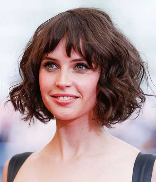 Wavy Bob Hairstyles with Fringe
