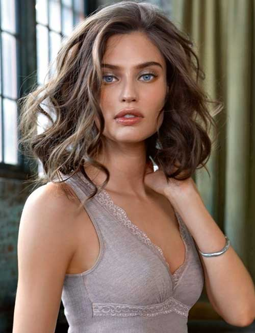 Brown Wavy Bob Hair