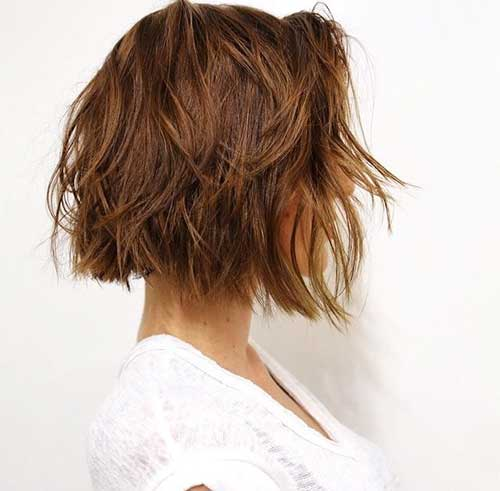 Brown Wavy Hair Bob
