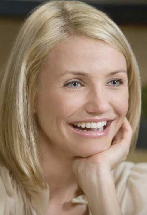 Cameron Diaz Thin Blonde Bob Hairstyles
