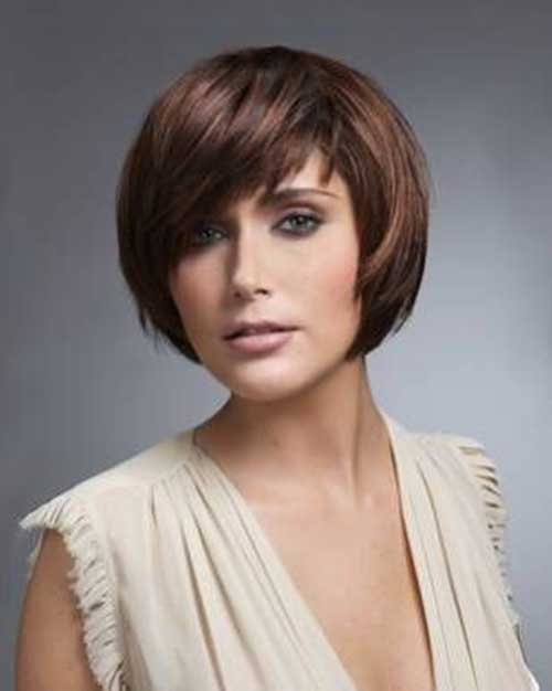 Casual Bobs Cuts for Round Faces 2015