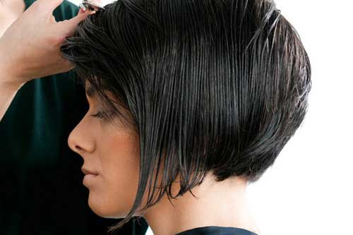 Chic Slicked Bob Hairstyle