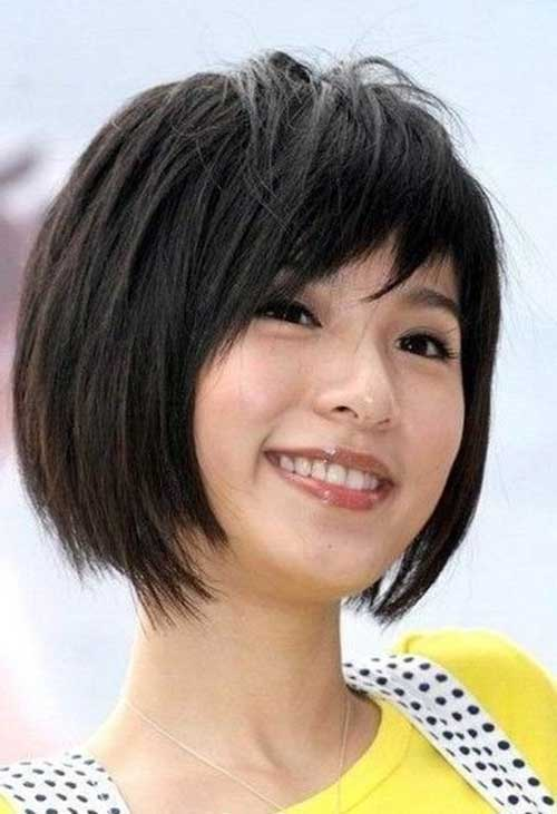 Chinese Bob Hairstyle with Bangs Images