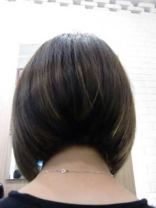 Concave Short Bob Back View Hairstyle