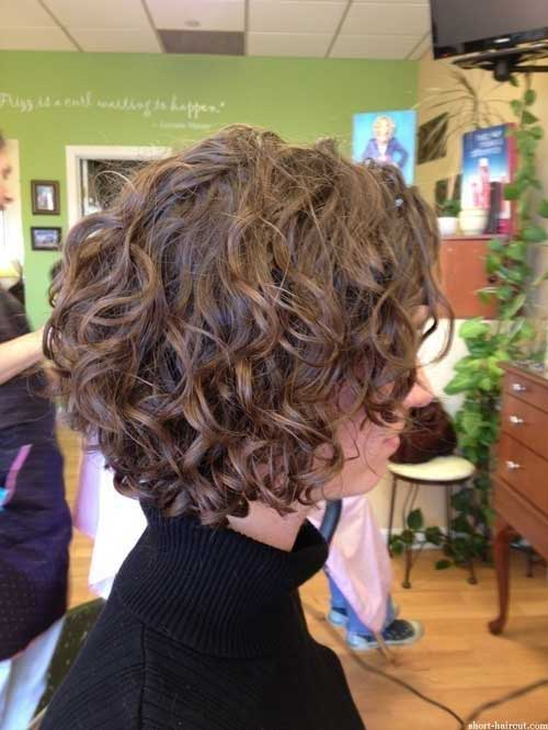 Curly Brown Bob Hairstyles 2014